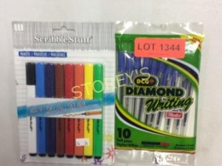 2 pc - 10 Ball Pens & Markers