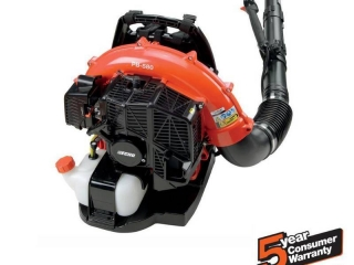 ECHO 215 MPH 510 CFM 58.2cc Gas 2-Stroke Cycle Backpack Leaf Blower with Tube Throttle IN GOOD CONDITIONS