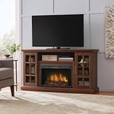 Home Decorators Collection Edenfield 59 in. Freestanding Infrared Electric Fireplace TV Stand in Burnished Walnut not used