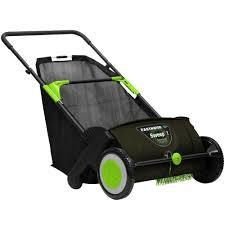 Earthwise 21 in. Sweep-It Push Lawn Sweeper with 2.61 Bushel Collection Bag  in like new condition