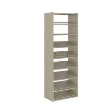 Martha Stewart Living 14 in. D x 25.125 in. W x 72 in. H Rustic Grey Wood Essential Shoe Tower Closet Kit not used