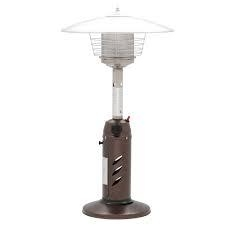 Hampton Bay 11,000 BTU Powder Coated Bronze Tabletop Propane Patio Heater  in like new condition