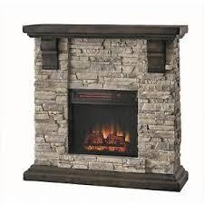 Home Decorators Collection Highland 40 in. Media Console Electric Fireplace TV Stand in Faux Stone Gray not used