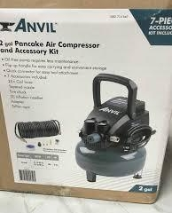 ANVIL 2G Pancake Air Compressor with 7-Piece Accessories Kit  in like new condition