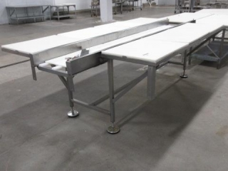 Dual Sided Poly Top Stainless Steel Table