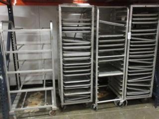 (4) Baker's Racks Including Sheet Pans