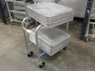 Small Four Wheel Cart with and Assortment