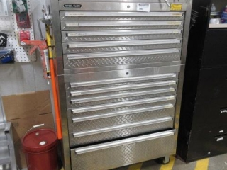 Large Steel 12 Drawer Tool Box on Casters