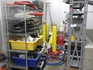 (2) Racks of Miscellaneous Parts Including