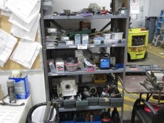 Metal Six Shelf Including an Assortment