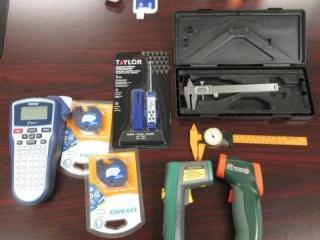 Measuring Equipment, Calipers, Ir Temp Guns