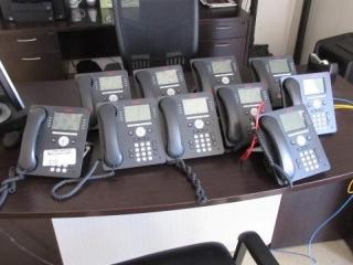 (12) Avaya Model 9608 Telephone Desk Sets, Paging