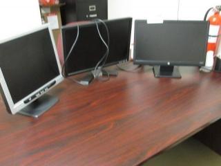 (3) Flat Panel Computer Monitors