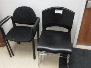 Lot of (7) Stack Chairs, Two Different