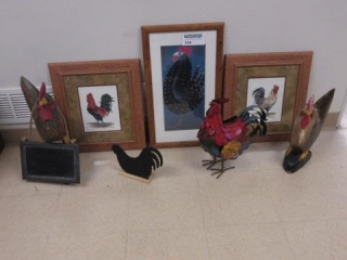 Lot of Rooster Themed Pictures and Statues