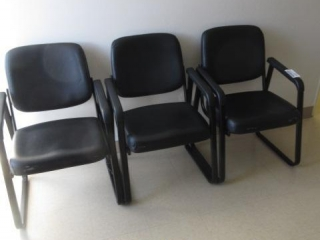 (3) Sled Base Side Chairs