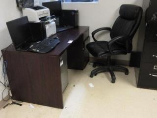 Single Pedestal Desk with Five Star Office