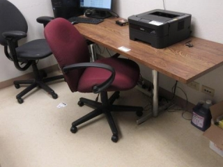"""Approximately 84"""" X 24"""" Metal Base Table"""
