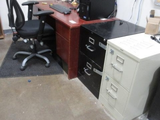 Double Pedestal Desk with Five Star