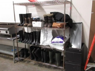 Metro Style Rack with Contents of