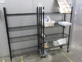 """(2) Rolling Racks Approximately 3"""" X 14"""""""