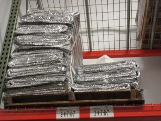 Pallet of Insulated Pads and a Pallet of