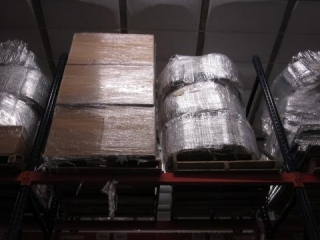 Pallet of Styrofoam and a Pallet of