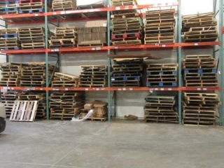 Lot of Empty Pallets as Photographed
