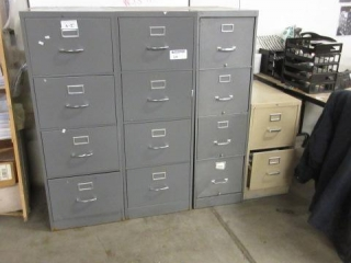 File Cabinet Lot Including (3) Four