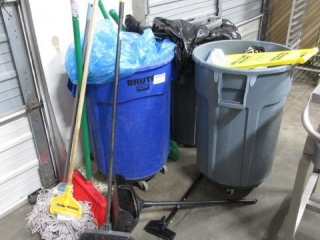 Assorted Lot of Cleaning Supplies Including