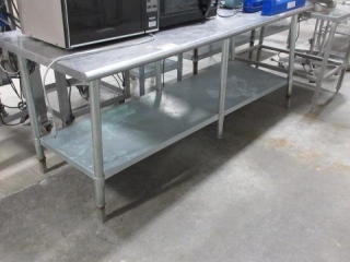"""Stainless Steel Table, Approximate 30"""" X 84"""""""