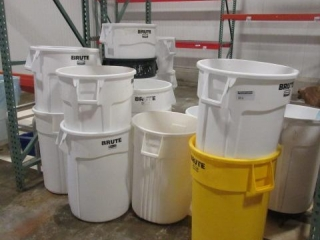 Approximately 25 Trash Cans