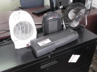 2 Heater Fans, Ups, Fan, Located in Remote Office