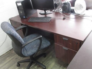 Desk With 5 Star Chair, Located in Remote Office