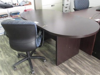 Oval Conference Table, 5 Star Chair, Located in