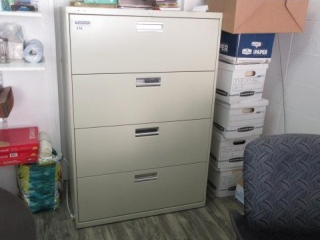 4 Drawer Lateral File, Located in Remote Office