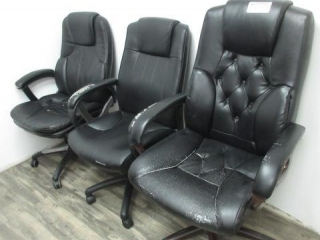 3 High Back Office Chairs, Located in Remote