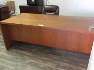 Desk, Credenza, 2 Chairs, Located in Remote