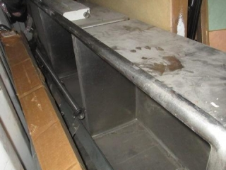 2 Compartment Stainless Steel Sink, Located In