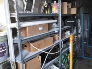 4 Shelving Units, No Contents