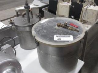 (2) Vacuum Pots