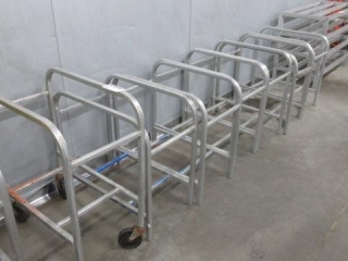 Lot of (7) Small Four Wheel Carts