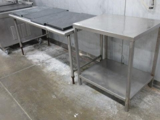 (2) Stainless Steel Tables Approximately