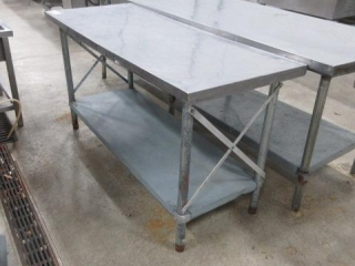 Stainless Steel Table with Under Counter