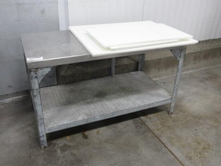 Stainless Steel Table with Poly Top Pieces