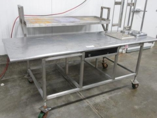 Stainless Steel Table on Casters