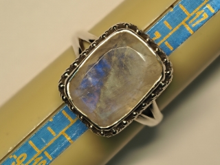 $280 Sterling Silver Moonstone Ring