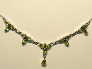 $440 Sterling Silver Peridot Necklace