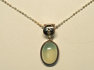 $240 Sterling Silver Chalcedony Necklace