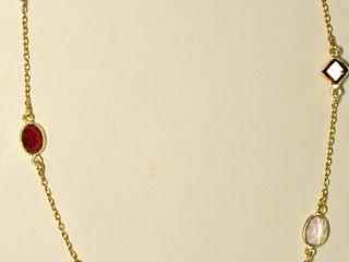 $220 Gold-Plated Sterling Silver Garnet & Amethyst